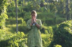 Gaby Aschwanden in Bali